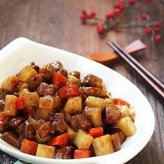 黑椒肉粒炒年糕