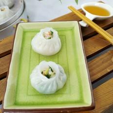 虾仁韭菜水晶包