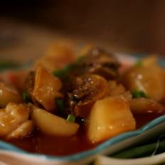 悦美食-鲍鱼烧土豆