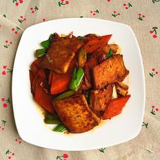 回锅豆腐胡萝卜片#中餐#