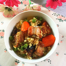 杂蔬排骨焖饭#午餐#