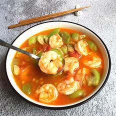 丝瓜烩虾仁#晚餐#