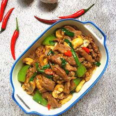 口蘑炒牛肉#午餐#