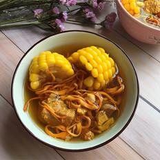 虫草花玉米龙排汤