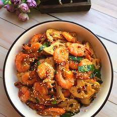 麻辣藕片虾的做法大全