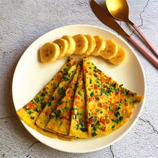 韭菜肉肠鸡蛋饼