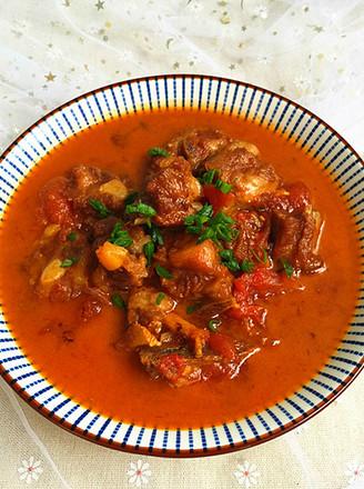 西红柿烧排骨#午餐#的做法