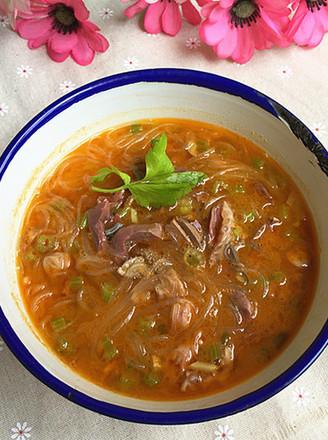 粉丝羊杂汤的做法