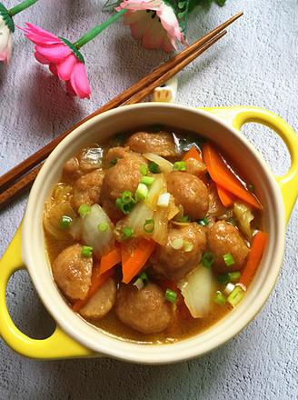 大白菜烩肉丸的做法