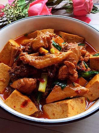 熏豆干焖烧鸡块的做法