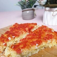 创意宝宝番茄大米披萨