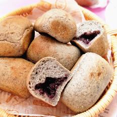 黑芝麻紫糯米餐包