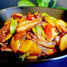 五花肉干煸土豆片