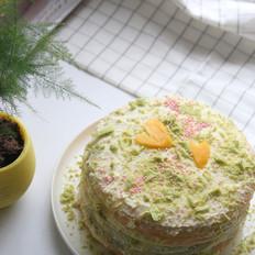 春之色彩虹蛋糕