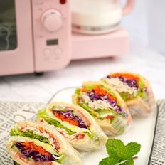 轻食之大口三明治