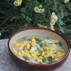 青菜鸡蛋汤年糕