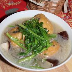 香菜油豆泡汤