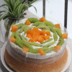 榴莲爆浆水果蛋糕