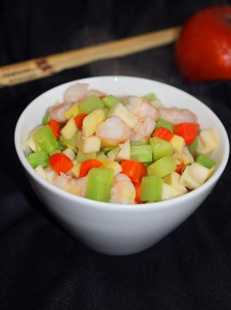 鲜虾炒时蔬的做法