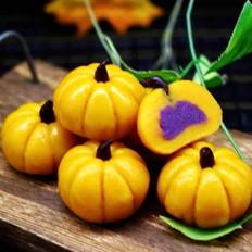 水晶南瓜紫薯包