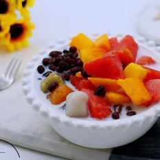 椰浆红豆芋圆水果捞