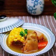 【甜甜美美】的土鸡炖玉米甜藕汤