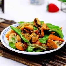 【合家欢聚】的荷兰豆海鲜豆芽小炒