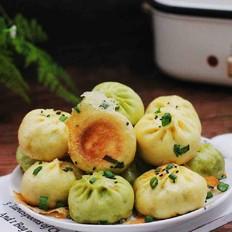 双色西葫芦韭菜生煎包