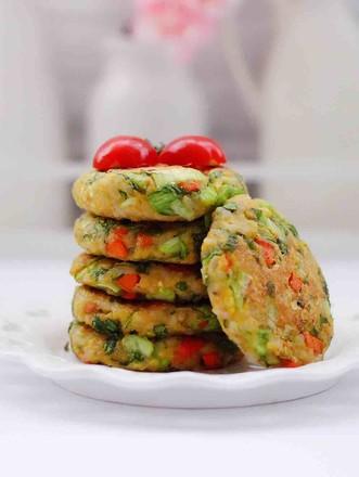 低脂杂粮谷物时蔬饼的做法
