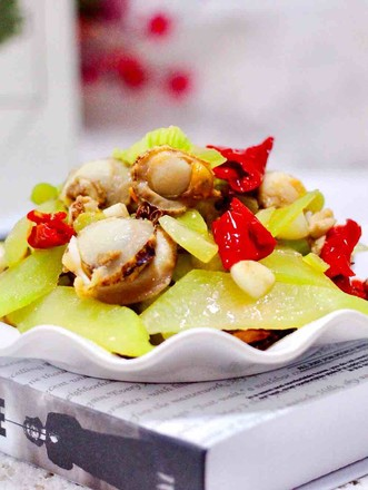 扇貝萵苣小炒的做法