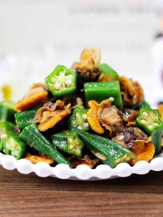 辣根温拌秋葵毛蛤的做法