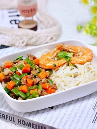 芸豆海虾打卤面的做法