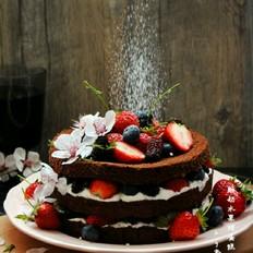 酸奶水果裸蛋糕
