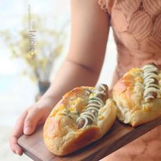 牛肉肠玉米面包