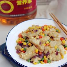 什锦熘鱼块#福临门营养家#