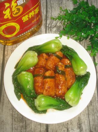 日本豆腐酿肉#福临门营养家#的做法
