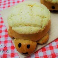 蜜豆酥皮小乌龟面包