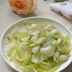 芹菜炒百合