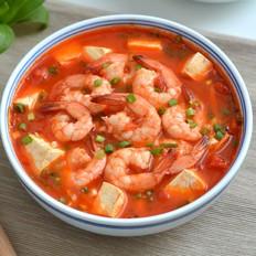 西红柿豆腐烩虾仁