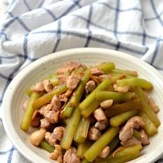 肉丁炒莴笋条