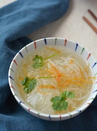 萝卜丝鱼干汤的做法
