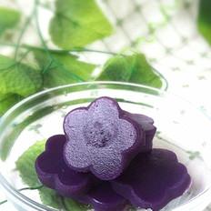 水晶紫薯饼