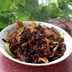 干蕨根炒肉丝