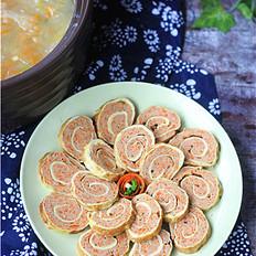 胡萝卜鸡蛋卷