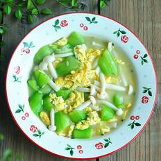 菌菇丝瓜鸡蛋汤