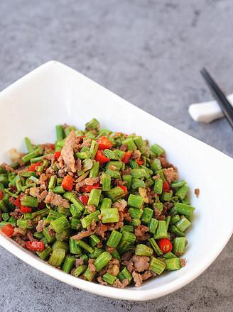 蕨菜炒肉末的做法