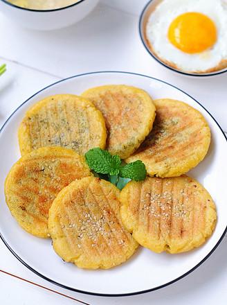 玉米黑芝麻饼的做法