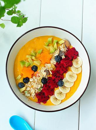 芒果奶昔碗的做法