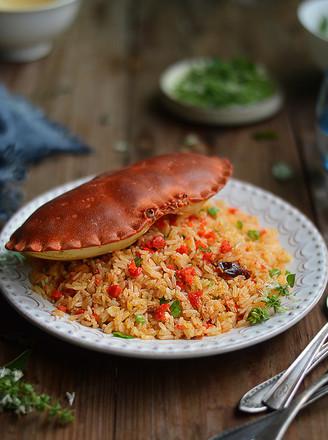 蟹黄炒饭的做法