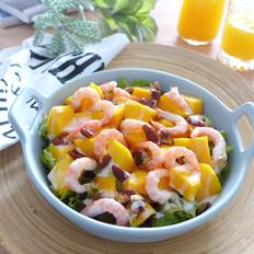 芒果北极虾沙拉